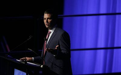 Donald Trump Jr. speaks during a fundraiser for Faulkner University, Thursday, Oct. 5, 2017, in Montgomery, Ala. (AP Photo/Brynn Anderson)