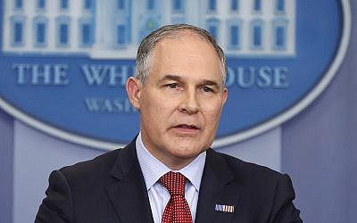 EPA Administrator Scott Pruitt speaks in the Brady Press Briefing Room of the White House in Washington, DC, on June 2, 2017. (AP/Pablo Martinez Monsivais)