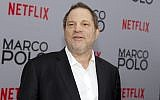 In this photo from December 2, 2014, Harvey Weinstein attends the season premiere of the Netflix series 'Marco Polo' in New York. (Andy Kropa/Invision/AP, File)