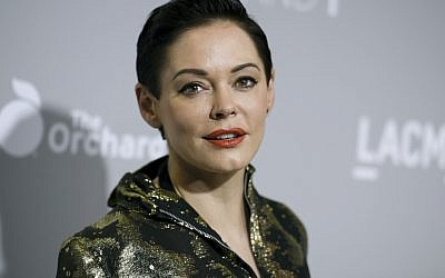 Actress Rose McGowan at a film premiere in Los Angeles on April 15, 2015 (Richard Shotwell/Invision/AP)