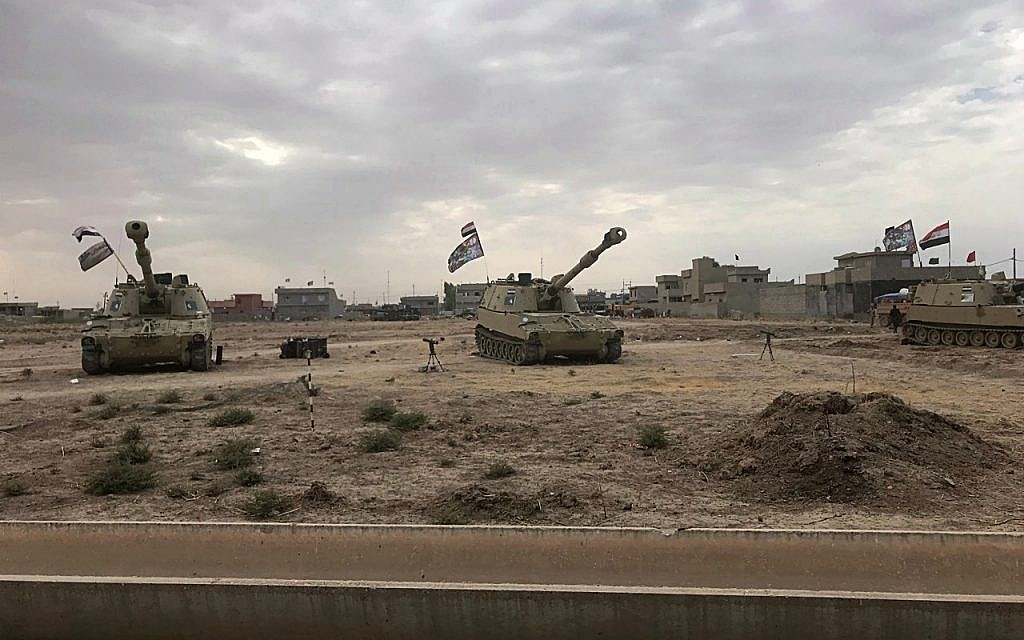 Illustrative: Iraqi tanks deploy in the village of Bashir, south of Kirkuk, Iraq, Friday, Oct. 13, 2017. Kurdish forces have withdrawn from the edges of a disputed region in northern Iraq, a commander said Friday, amid tensions with Iraq's central government over the administration of the oil-rich city of Kirkuk. (AP Photo/Emad Matti)