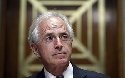 In this Sept. 19, 2017, photo, Senator Bob Corker is seen on Capitol Hill in Washington. (AP/Alex Brandon)