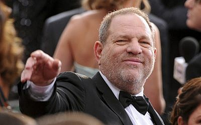 Harvey Weinstein arrives at the Oscars at the Dolby Theatre in Los Angeles, February 22, 2015. (Vince Bucci/Invision/AP)