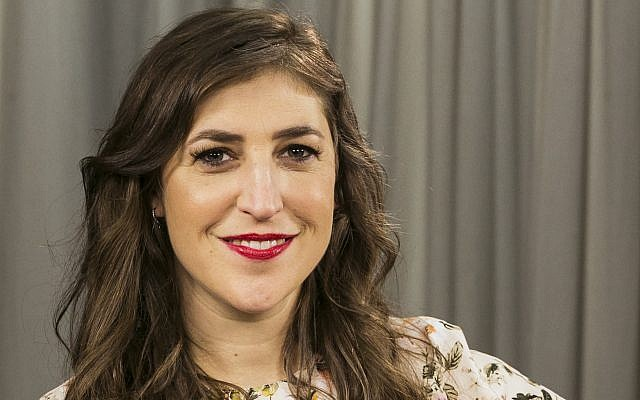 Actress and author Mayim Bialik poses for a photo in Los Angeles, May 23, 2017. (AP/Damian Dovarganes)
