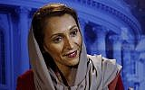 Fatimah Baeshen, the spokeswoman for the Saudi Arabia Embassy in Washington, speaks during an Associated Press interview. (AP Photo)
