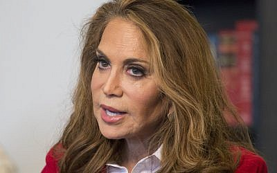 Conservative blogger Pamela Geller speaks during an interview at The Associated Press in New York, May 7, 2015. (AP Photo/Mark Lennihan, File)