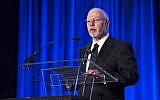 Paul Singer, founder and CEO of hedge fund Elliott Management Corporation, speaking at the Manhattan Institute for Policy Research Alexander Hamilton Award Dinner, in New York on May 12, 2014.  (AP/John Minchillo)