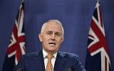 Australian Prime Minister Malcolm Turnbull speaks during a press conference in Sydney, October 28, 2017. (Joel Carrett/AAP Image via AP)