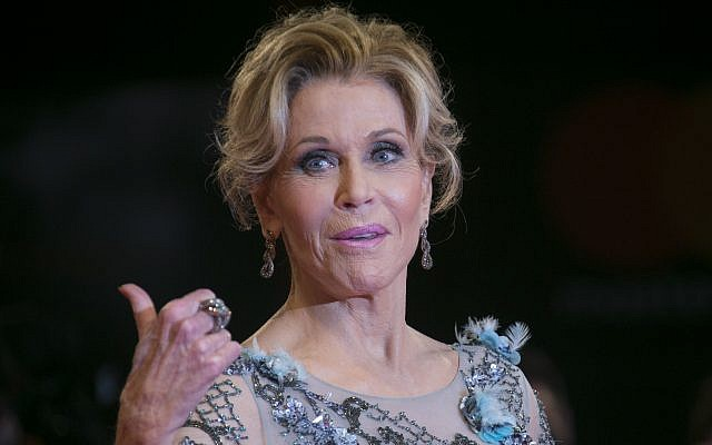 Actress Jane Fonda poses for photographers at the photo call of the film 'Our Souls at Night' during the 74th edition of the Venice Film Festival in Venice, Italy, Friday, Sept. 1, 2017 (Joel Ryan/Invision/AP)
