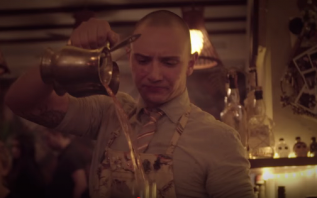 Illustrative: A bartender prepares a cocktail at Tel Aviv's Imperial Craft bar (YouTube)