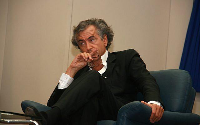 Bernard-Henri Lévy at Tel Aviv University in 2011. (Wikimedia Commons via JTA)