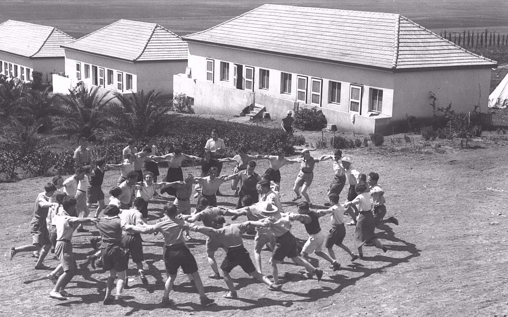Youth Aliya members from Germany dancing the hora at Kibbutz Ein Harod, 1936 (Kluger Zoltan/GPO)