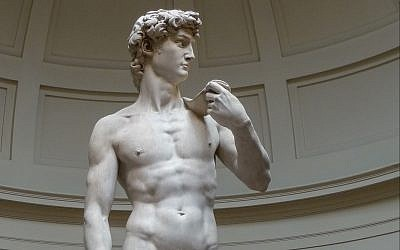 Michelangelo's 'David' in Florence's, Galleria dell' Accademia. (CC bY Jörg Bittner Unna, Wikimedia Commons)