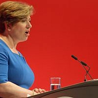 Shadow Secretary Emily Thornberry gives a speech at the 2016 Labour conference. (CC BY-SA 4.0, Rwendland, Wikipedia)