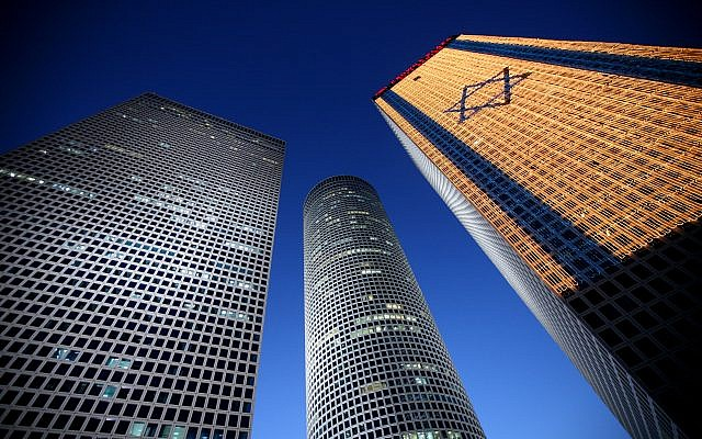 Illustrative image: Azrieli Towers, Tel Aviv (Moshe Shai/Flash90)