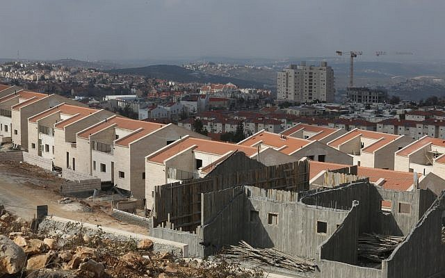 Illustrative: Construction in the settlement of Ariel, on January 17, 2014. (Flash 90)