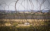 View of the Gaza Strip from the Israeli border, file (Doron Horowitz/Flash90)