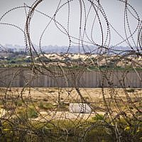 View of the Gaza Strip from the Israeli border. (Doron Horowitz/Flash90)