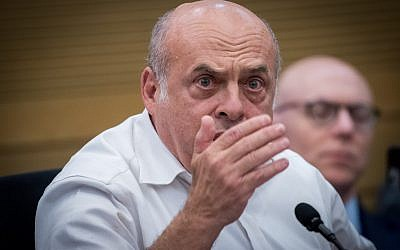 Jewish Agency chairman, Natan Sharansky attends the lobby for strengthening ties with the Jewish world at the Knesset, June 27, 2017. (Yonatan Sindel/Flash90)
