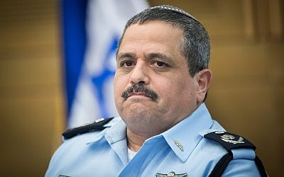 Israel Police Commissioner Roni Alsheich attends a committee meeting at the Knesset on July 11, 2017. (Yonatan Sindel/Flash90)