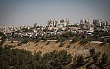 View of neighborhoods in Ma'ale Adumim, near Jerusalem, October 3, 2017. (Hadas Parush/Flash90)