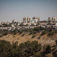 View of neighborhoods in Ma'ale Adumim, near Jerusalem, October 3, 2017. (Hadas Parush/Flash90)