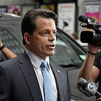 "Anthony Scaramucci departing from ""The Late Show With Stephen Colbert"" in New York City, August 14, 2017. (Mike Coppola/Getty Images)"