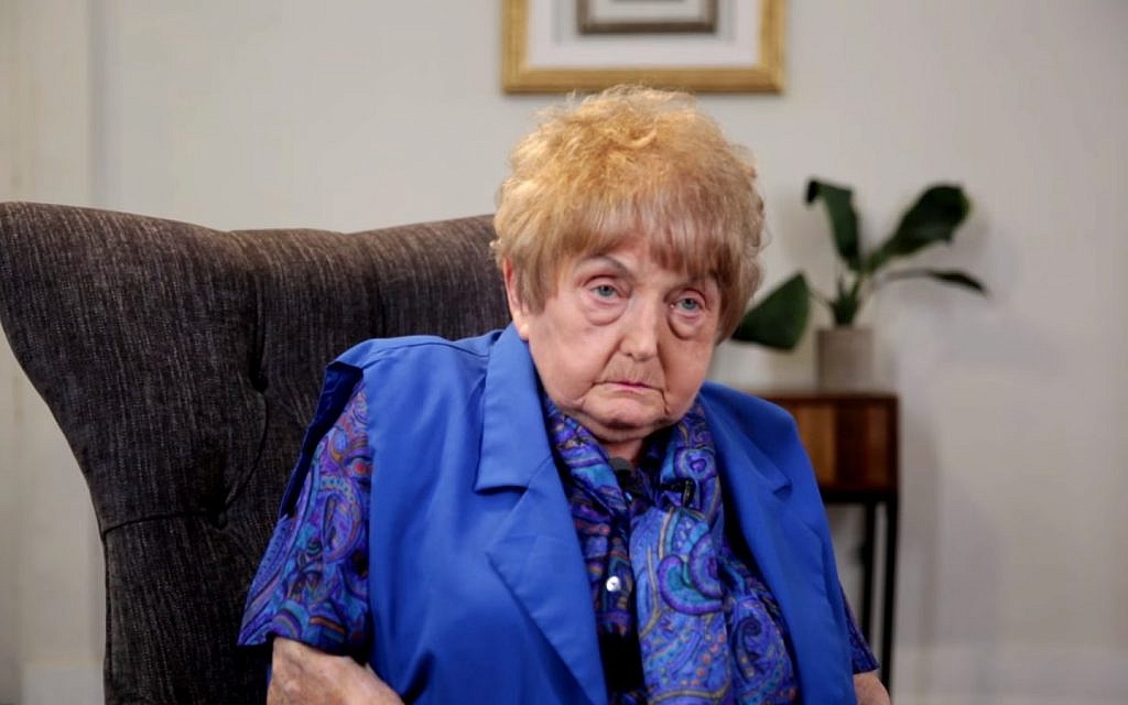 Holocaust survivor Eva Mozes Kor, who found self-empowerment when she forgave Josef Mengele, September 2017. (Screen capture: YouTube, Buzzfeed)