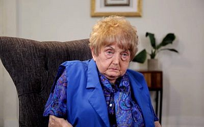 Holocaust survivor Eva Mozes Kor, who found self-empowerment when she forgave Josef Mengele, September 2017. (Screen capture: YouTube, Buzzfeed)