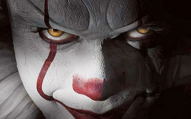 Screenshot from the movie 'It,' thought to have helped inspire copycat clowns in towns across Israel, September 2017. (Screen capture: YouTube)