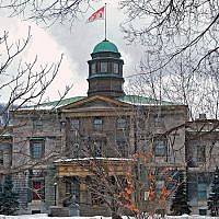 The Arts Building at McGill University in Montreal, Canada. (Wikimedia Commons via JTA)