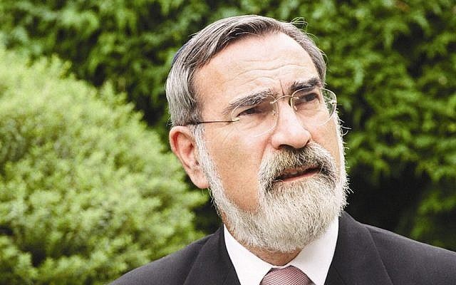 Former British chief rabbi Lord Jonathan Sacks (United Synagogue via JTA)