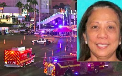 Marilou Danley, the girlfriend of Stephen Paddock who killed 59 people and wounded more than 500 others when he opened fire from the Mandalay Hotel on a country music festival in Las Vegas on October 1, 2017. (Screen capture/YouTube)