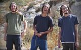 Hilltop youth members (from L-R) Yedidya Schlissel, Yehoshua Lambiasi, and Yitzhak Ettinger. (Screen capture: YouTube)