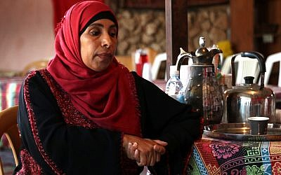 Suheila Abu Rkeek, a Bedouin entrepreneur in the village of Tel Sheva. (Craig Johnson)