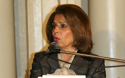 Egyptian candidate to head UNESCO, Moushira Khattab (CC BY Mahmoud Khattab, Wikimedia Commons)