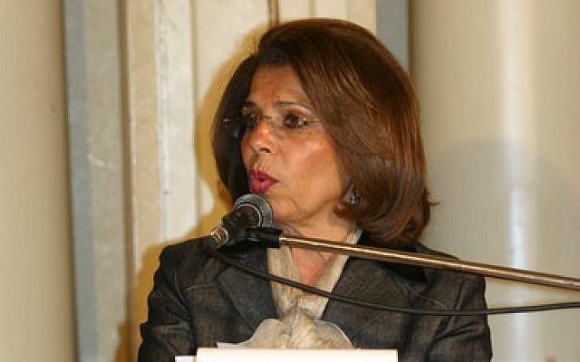Egyptian candidate to head UNESCO, Moushira Khattab (CC BY Mahmoud Khattab, Wikimedia Commons)