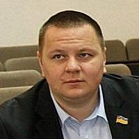 Volodymyr Bazelyuk, head of the Vinnitsa branch of the Ukrainian nationalist party Svoboda ('Freedom').  (Facebook)