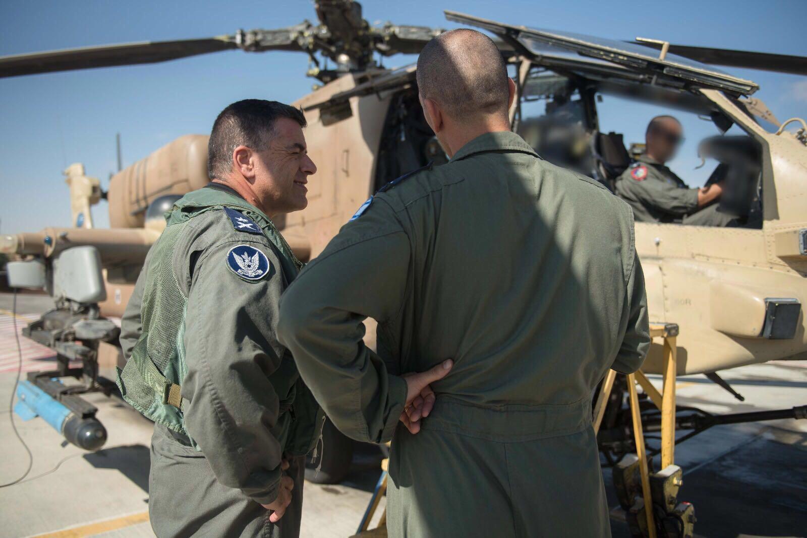 Israeli Air Force Chief Maj Gen Amikam Norkin Takes Part In A Training Flight