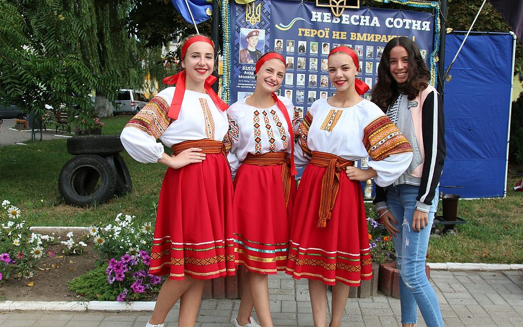 Ukrainian Independence Day in the town of Rohatyn. (Shmuel Bar-Am)