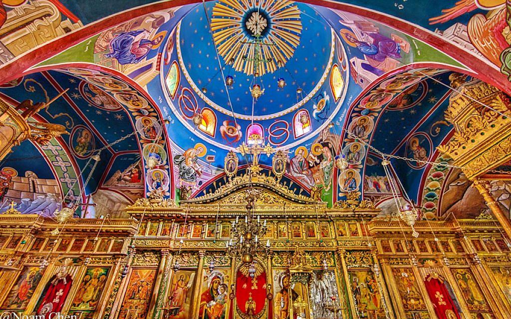 A feast to the eye, inside the Church of St. John the Baptist.