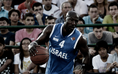 After a difficult five-year process, Cory Carr finally earned his Israeli citizenship in 2009. Here he represents Israel in the FIBA 3-on-3 World Championships in 2012. (Courtesy)