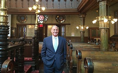 Michael Weinstein, author of 'Ten Times Chai: 180 Orthodox Synagogues of New York City.' (Cathryn J. Prince/Times of Israel)
