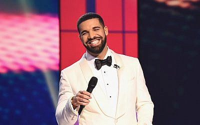 Drake speaking at the 2017 NBA Awards in New York City, June 26, 2017. (Michael Loccisano/Getty Images for TNT)
