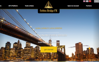 A screenshot of the Golden Bridge Forex website on October 3, 2017 (Screenshot)