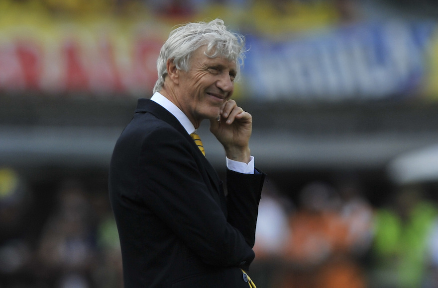 7c6cb8f7abe Jose Nestor Pekerman coach of Colombia gestures during a match between  Colombia and Ecuador as part