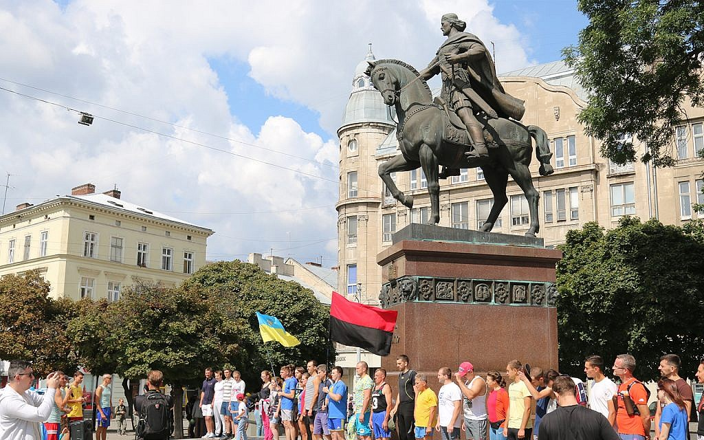 Independence Day celebrations in the city of Lemberg, also known as Lvov. (Shmuel Bar-Am)