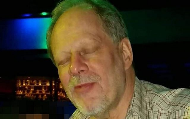 Stephen Paddock, the shooter in the Las Vegas concert attack (screen capture: Twitter)