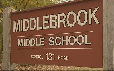 Middlebrook Middle School, Connecticut (Bronx.news12 screenshot)