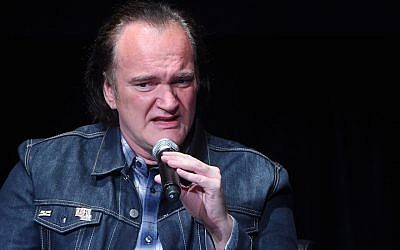 Quentin Tarantino speaks onstage during the panel for the 'Reservoir Dogs' screening during 2017 Tribeca Film Festival on April 28, 2017 in New York City. (Jamie McCarthy/Getty via JTA)